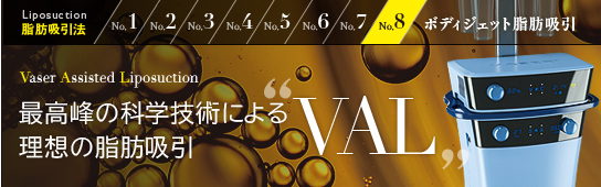 """最新の脂肪吸引""""VAL"""