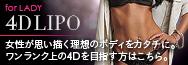 4D LIPO 女性が思い描く理想のボディをタッチに。ワンランク上の4Dを目指す方はこちら。