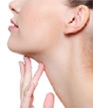 内出血の少ない顔(顎)